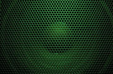 Bright green audio speaker