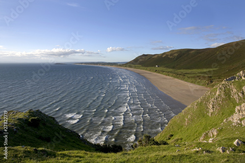 Rhossili Bay, Gower, Peninsula Wales, UK