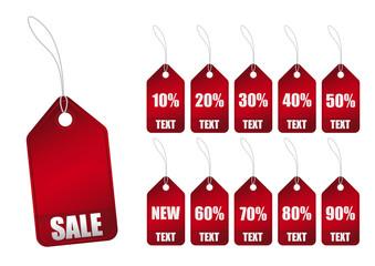 Etichette Sale Rossa