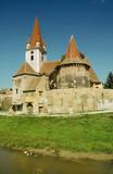Fortified church of Cristian. Transylvania, Romania. poster