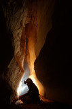 Cave passage with a caver