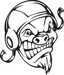 Wild boar.Mascot Templates.