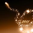 Goldenes Feuerwerk  Hintergrund 2011