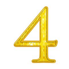 4 - Chiffres Or avec écailles