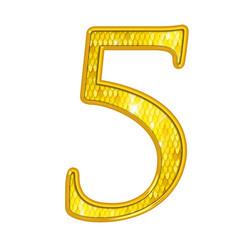 5 - Chiffres Or avec écailles