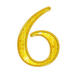 6 - Chiffres Or avec écailles