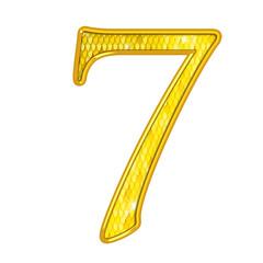 7 - Chiffres Or avec écailles