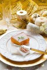 paté on golden table-pate'  in tavola dorata