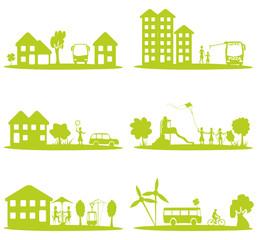 ville, vie urbaine, transport et écologie
