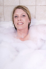 Woman Relaxing in the Tub