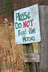Please Do Not Feed Horses Sign II