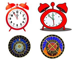 various clocks and astronomical clocks