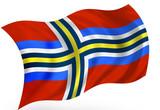 Scandinavian Union flag poster