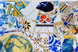 Modern mosaic in Guell park Antoni Gaudi in Barcelona