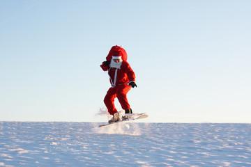 Santa Claus auf der Piste