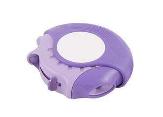 purple inhaler on a white background