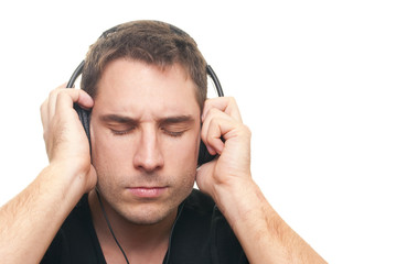 Man listening the music