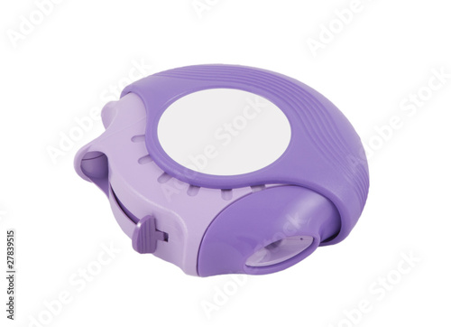 purple inhaler on a white background