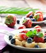 fruchtige Waffel