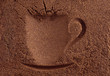 Cup of coffee background.