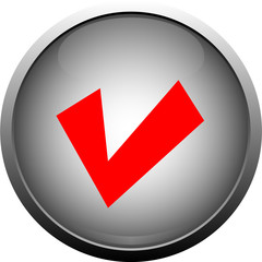 Gray button - チェックマーク