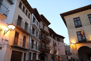 Main square Mora de Rubielos Teruel province Aragon Spain