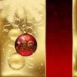 Elegant background with three Christmas balls
