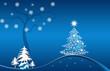 Christmas, xmas, Weihnachtsbaum, Santa Claus blau weiss