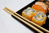 California Maki Sushi with Masago and Sushi