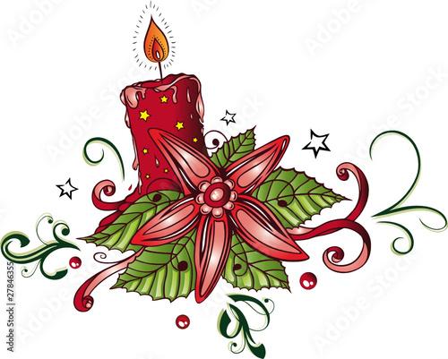 weihnachten weihnachtsstern advent kerze vector. Black Bedroom Furniture Sets. Home Design Ideas