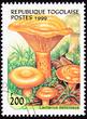 Togo Post Stamp Saffron Milk Cap Mushroom Lactarius Deliciosus