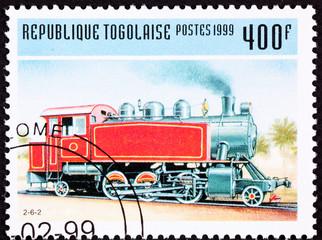 Togo Train Postage Stamp Old Railroad Steam Engine Locomotive
