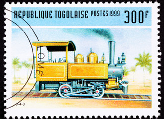 Togo Postage Stamp Old Railroad Steam Engine Locomotive Train