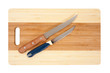 knifes  over cutting board