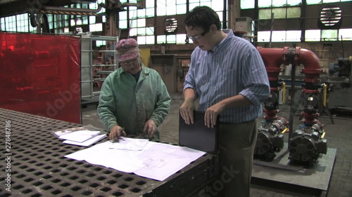 Reviewing Blueprints in Factory
