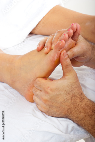 Detail of reflexology massage
