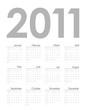 Calendar template for 2011