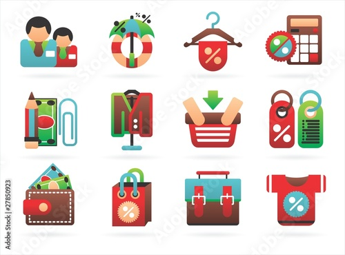 interesting shopping icons