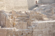 Excavated ruins near the entrance of restored Bahrain fort