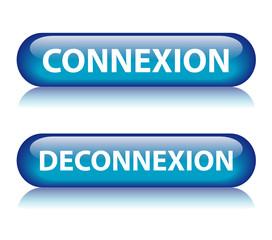 Boutons CONNEXION & DECONNEXION (internet web accès cliquer ici)