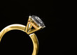 Macro diamond ring