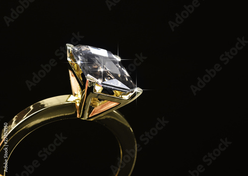 Large diamond ring