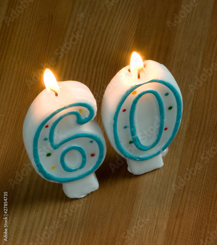 60th birthday candles