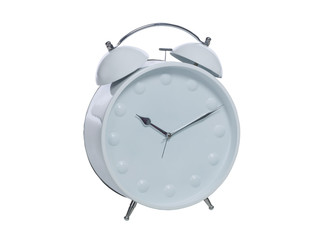 white retro wind up alarm clock