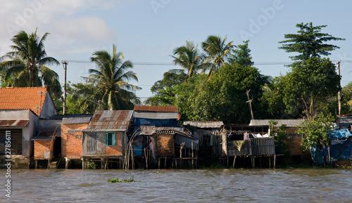 Mekong river huts