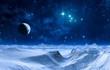 Leinwandbild Motiv Mondnachten