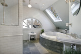 Luxury bath room with granite floors