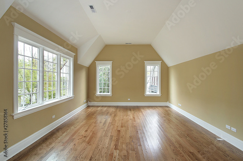 Master bedroom in new construction house