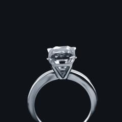 Close up of diamond ring