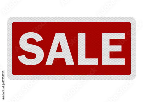 Photo realistic ' sale' sign, isolated on white
